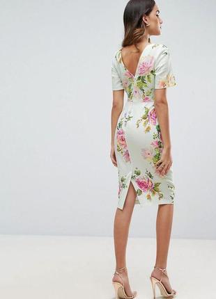 Бомбезное платье миди-футляр с карманами  от asos