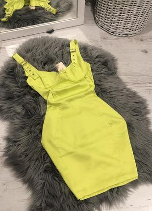 Сатиновое платье с ремешками и косточками oh polly 💚 сатинова сукня