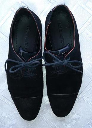 Замшеві брендові мешти туфлі