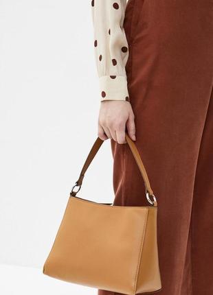 Светло-коричневая, оранжевая сумка mango италия, новинка!