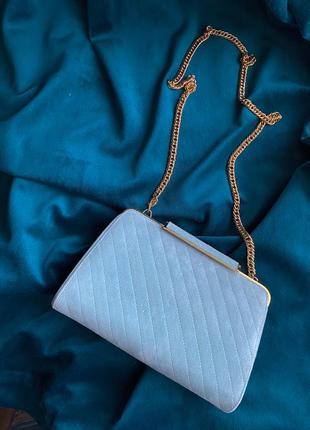 Оригинал bally новая винтажная мятная замшевая сумочка на цепочке
