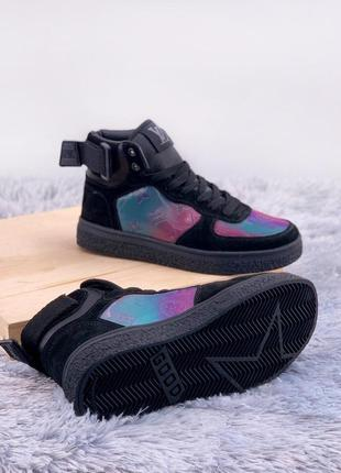 Boombox trainer boots black fiolet2 фото