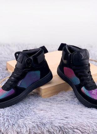Boombox trainer boots black fiolet4 фото