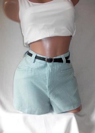 Total sale скидки распродажа!!! голубые короткие шорты с завышенной талией
