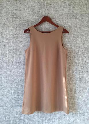 Распродажа! нюдовое платье футляр  h&m