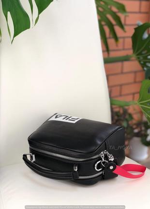 Черная спортивная женская сумочка кросс боди