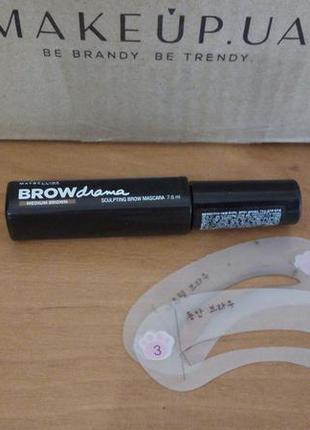 Моделирующая тушь для бровей maybelline brow drama sculpting brow mascara