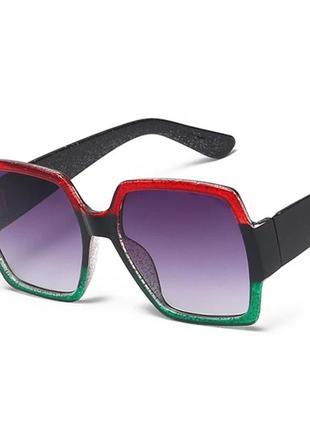 Квадратные роскошные солнцезащитные очки