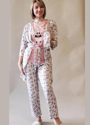Распродажа!! комплект ~пижамка с халатиком,  хб