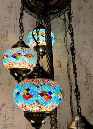 Турецкий напольный торшер ручной работы из мозаики