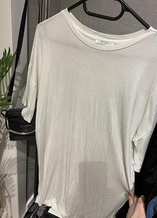 Крутое свободное платье футболка с напылением zara8 фото