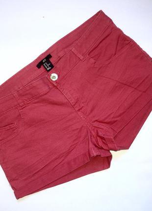 Коралловые джинсовые шорты h&m