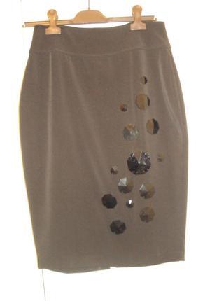 """Умопомрачительная черная итальянская дизайнерская юбка-карандаш  - просто """"отвал башки"""" :)"""