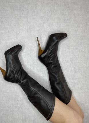 Gas ботильоны кожа туфли