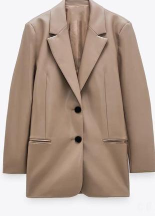 Кожаный пиджак супер тренд