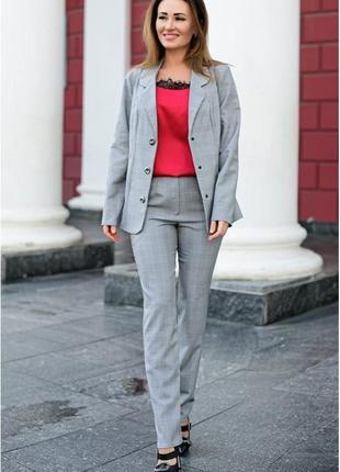 Брючный костюм для офиса константа  (765-лб)