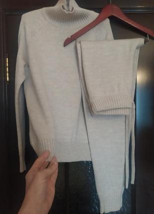 Вязанный костюм, с меринос .