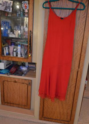 Шикарное вечернее красное платье от h&m