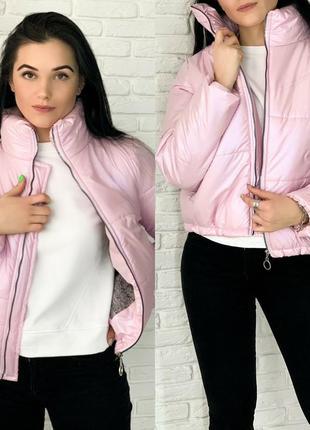 Куртка женская демисезонная утепленная на силиконе короткая