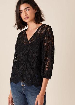 Divided h&m гипюровая блуза-сетка с ажурным кружевом