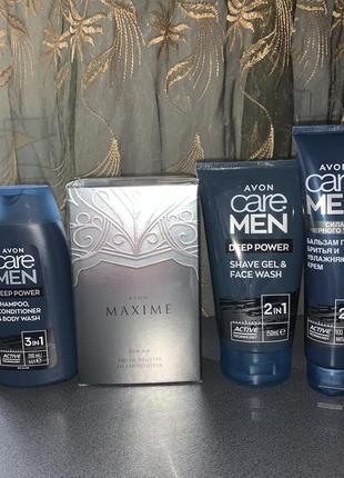 Набор по цене аромата! мужской (шамп-конд-гель, парфюм maxime, гель для и после бритья)