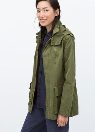 Куртка zara в стиле милитари
