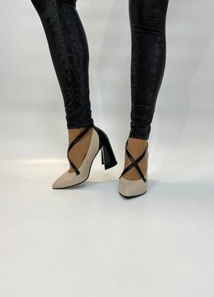 Туфли кожаные лодочки