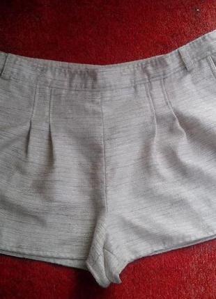 Стильные шорты atmosphere / блестящие шортики с карманами