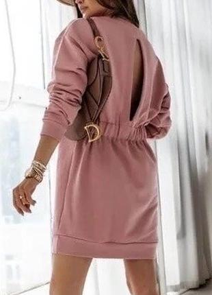 Платье туника женское теплое на флисе , 4 цвета,41ко