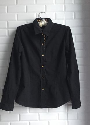 Рубашка roberto cavalli черная