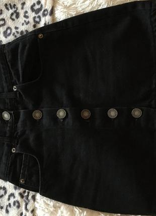 Юбка на пуговицах , джинсовая