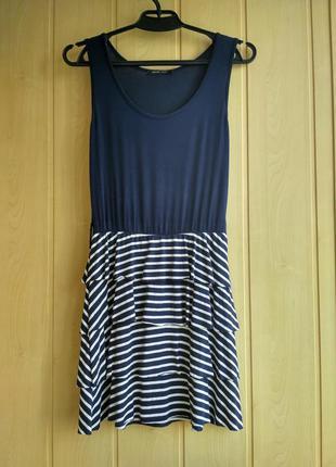 Синее платье в белую полоску jennifer taylor