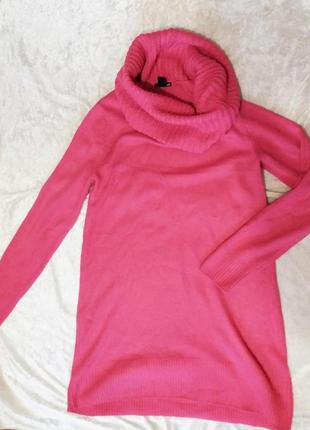 Яркий теплый модный свитер оверсайз