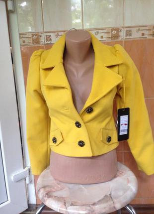 Короткое пальто- пиджак,жакет- кашемир, для очаровательных прелестниц, р.от 134 до 146