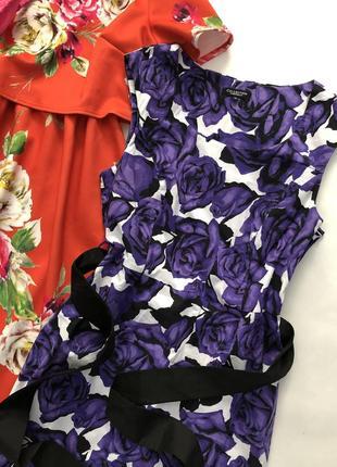 Как новое нереально красивое котоновое хлопковое  платье миди в цветы