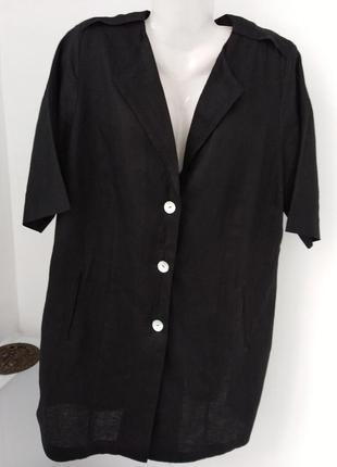 Льняная блузка плюс-сайз от немецкого бренда ulla popken selection