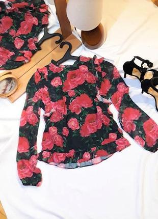Блузка с розочками от moxito, 36 размер.