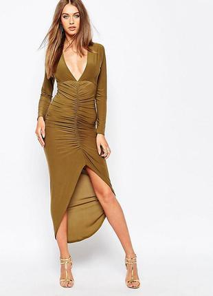 Обалденное платье цвета хаки
