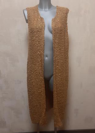 Вязанная жилетка большой размер
