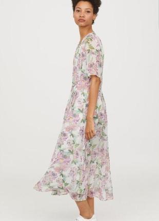 Шелковое платье h&m
