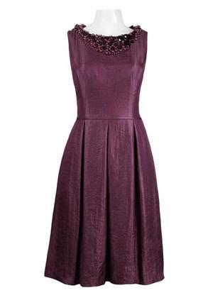 Шикарное вечернее коктельное платье марсала /l.
