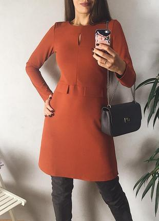 Яркое элегантное весеннее осеннее платье трапеция