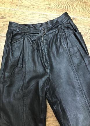 Кожаные брюки с защипами s-m