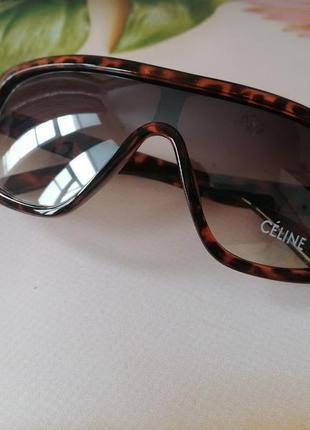 Солнцезащитные очки маска расцветка леопард