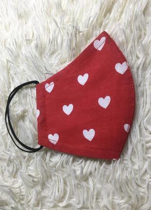 Тканевая маска для лица,валентинка,сердце