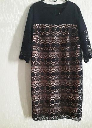 Классное платье с кружевом jannel