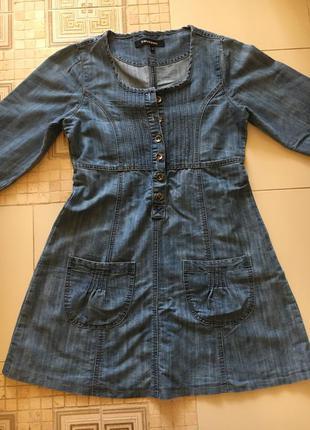 Джинсовое платье коттон