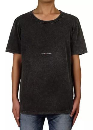 Культовая черно серая футболка saint laurent