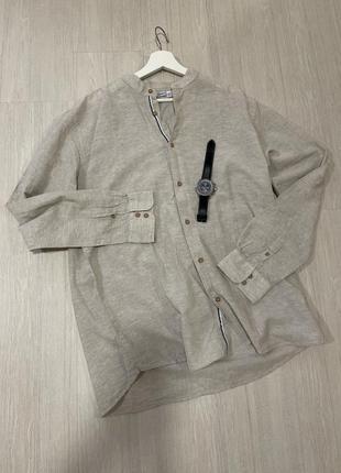 Рубашка льняная хлопковая