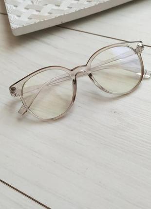 Компьютерные очки, очки с антибликовым напылением, прозрачная оправа, имиджевые очки